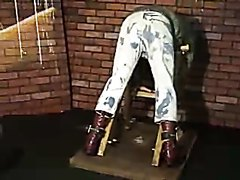 Skinhead boot camp caning pt1