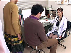 Yummy Asian nurse seduces a horny bloke