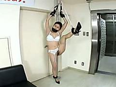 Slave babe in bondage gets fucked hard