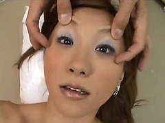 Smutty girlfriend gets drenched in heaps of cum