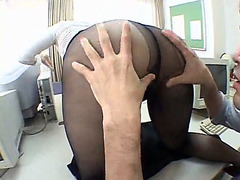 Sensational babe gets boned in the office