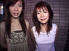 Horny Japanese bitches get fucked in the club