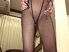 Asian prostitute in fishnets gets screwed hard