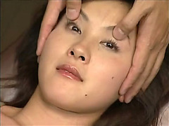 Nasty Asian silly gets her eyes drenched in cum