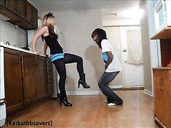 HOT Kickline Dancer Kicks And Kneeing