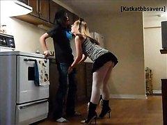 HOT LEGS AND ASS Miniskirt Kneeing