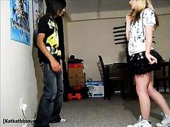 Teen Kicks Balls In Sneakers