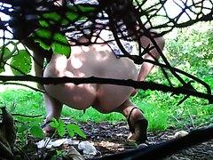 Countryside voyeur peeing