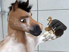 Animated horse vore