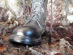Hot soldier's feet