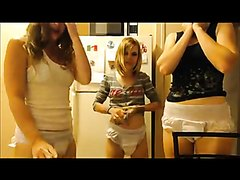 3 Girls Poop Diapers