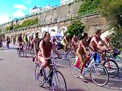 World naked bike ride in Brighton