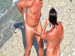 European nudists engaged in a wicked threesome