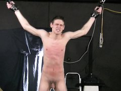 BDSM twink tied up and whipped