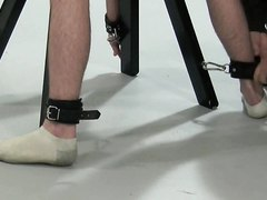 BDSM twink tied up and spanked domination