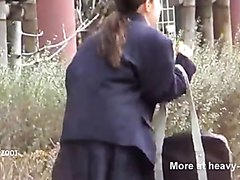 Japanese schoolgirl public poop accident