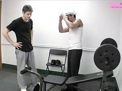 Gym ballbusting