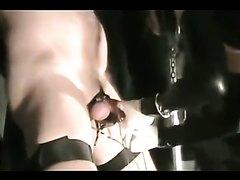 Nasty femdom cock punishment