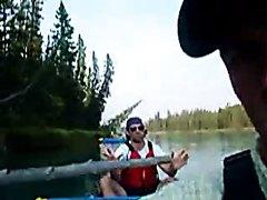 Blue (brown) canoe