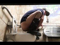 Confirm. Men bathroom voyeur
