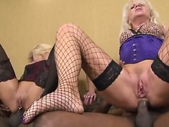 Mature ANAL WHORES take thick black cock up their shitter