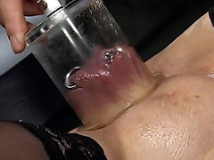 Kinky pussy pump play and fuck in the dungeon