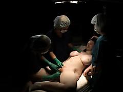 Lesbian doctors finger and fondle a patient