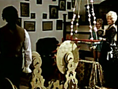 Vintage costume drama with dildo machines used