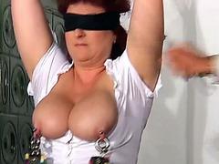 Curvy milf is a kinky BDSM slut for guys