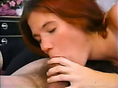 Teen redhead fucked by an older man in every position