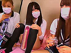 Japanese dolls flash their cunts in uncensored video