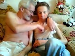 Skinny granny cam slut sits pussy on a dick