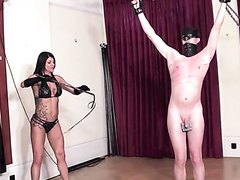 muscle mistress Hard whipping