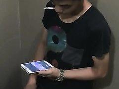 boy in toilet - video 2