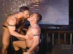 Leather Musclemen on Fire