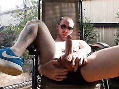 being nice & good exhibitionist in the garden for neighbours & more