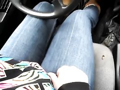 Wetting jeans while driving