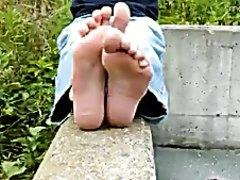 refreshing my sweaty, smelly teen boy's feet