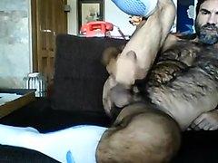 delicious hirsute daddy cumming