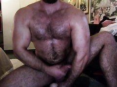 Muscle stud and his toy