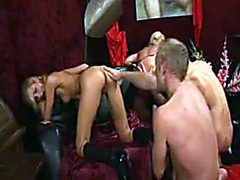 Orgy party with elegant girls in an expensive house