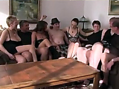 German swinger party with hardcore fucking and lots of licking