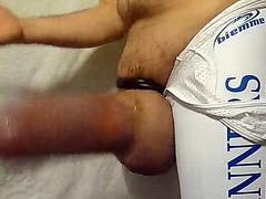 Dick gets huge inside the effective penis pump