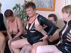 Sucking and fucking at a swinger party