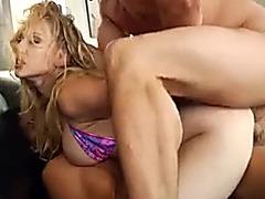 Double penetration threesome for slut in a bikini