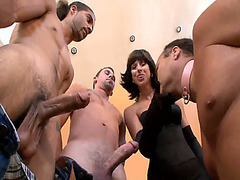 Forced bisexual blowjobs with mistress and her cuckold