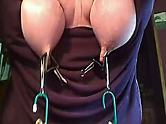 Painful bondage for my natural titties