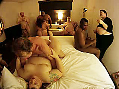 Fat ladies fucked at our naughty orgy party
