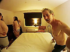 Hot amateur orgy party in the master bedroom