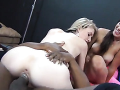 Interracial group sex with hot body girls